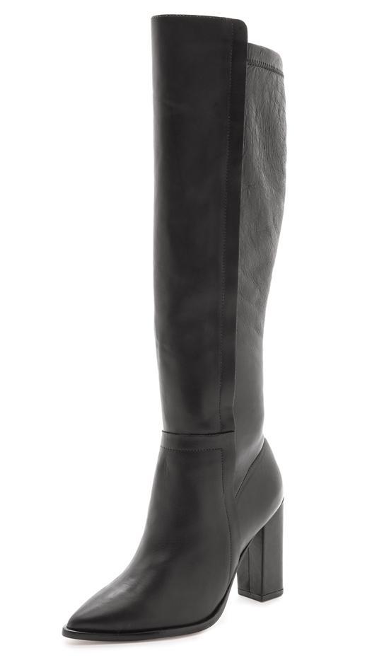 Loeffler Randall Minetta Stretch Leather Knee-High Boots