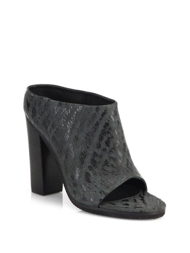 Tibi Leona Terrain Leather Mules