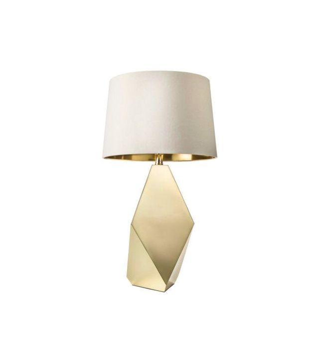 Nate Berkus Faceted Brass Lamp