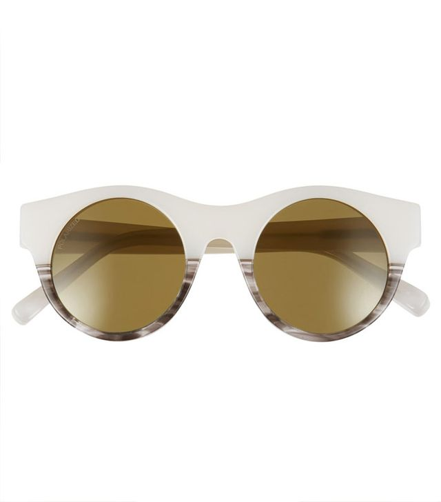 Elizabeth and James 'Olive' 47mm Polarized Round Sunglasses