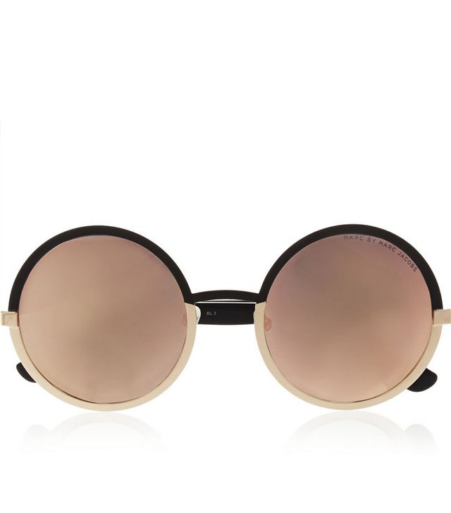 Marc by Marc Jacobs Round-Frame Acetate Mirrored Sunglasses