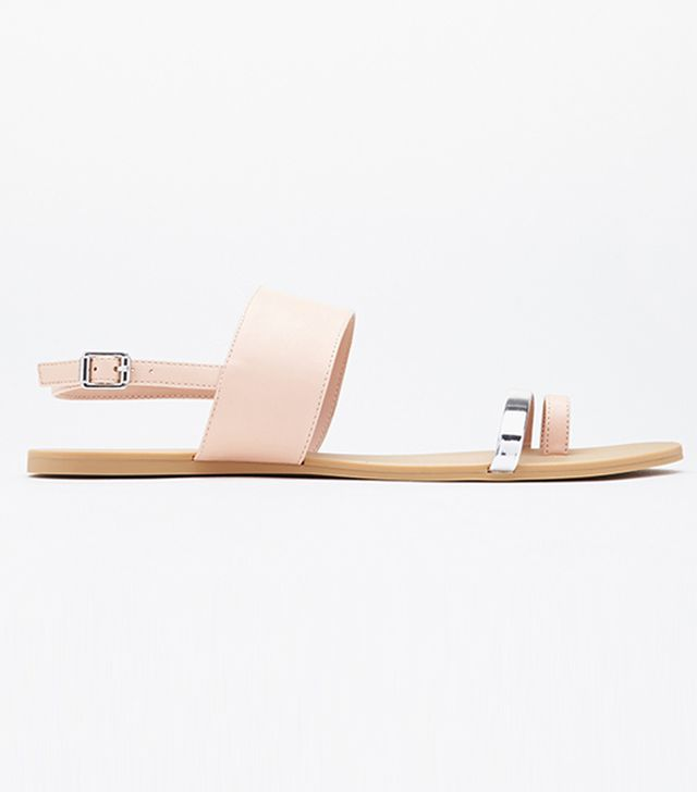 Forever 21 Faux Leather Toe Sandals