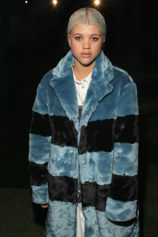 """She's already mastered the """"I'm here, but I'm gone"""" stare.  Sofia Richie in Marc Jacobs"""