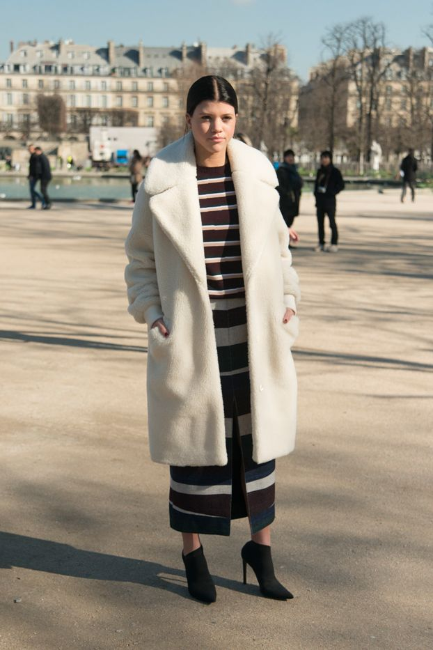 This outfit.  Sofia Richie in Carven
