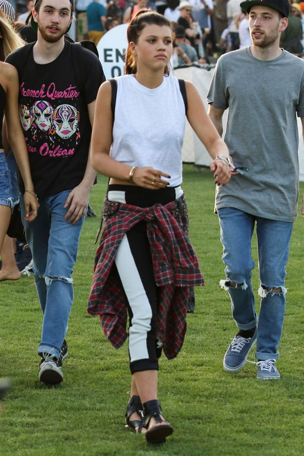 Her Coachella fashion has a touch of '90s grunge, and we don't hate it.