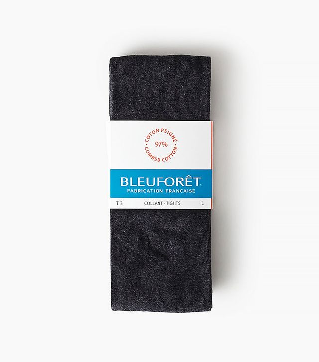 Bleu Foret Velvety Cotton Tights