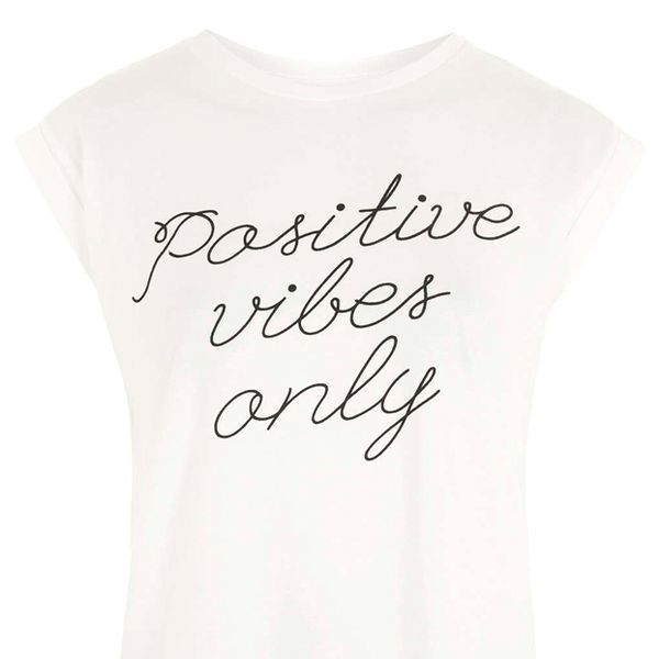 Topshop Positive Vibes Only