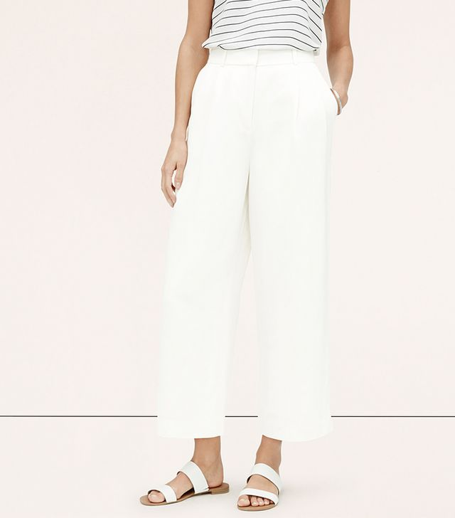 Loft Cropped Wide-Leg Pants