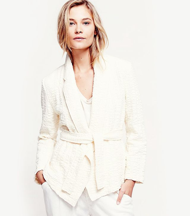 Free People Textured Blazer With Tie