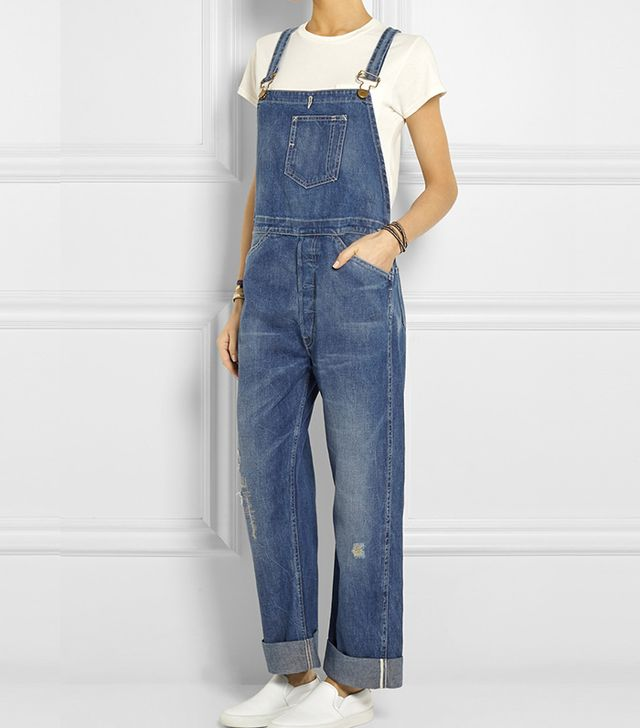 Levi's Vintage Clothing Bib and Brace Distressed Denim Overalls