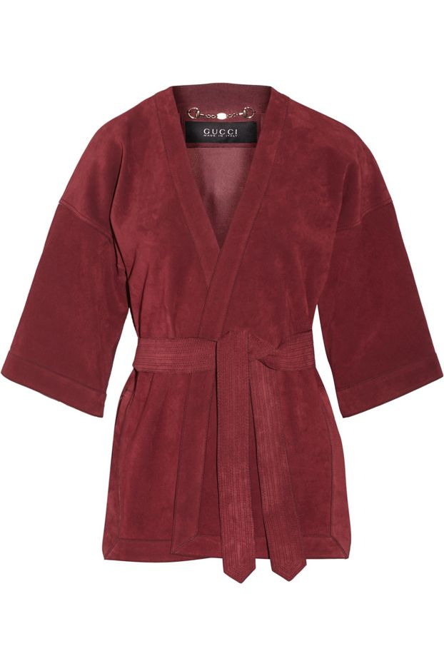 Gucci Belted Suede Jacket