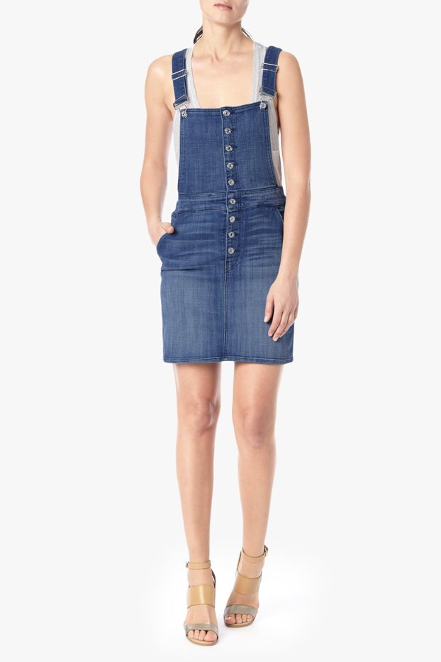 7 For All Mankind Fashion Midi Skirt Overalls