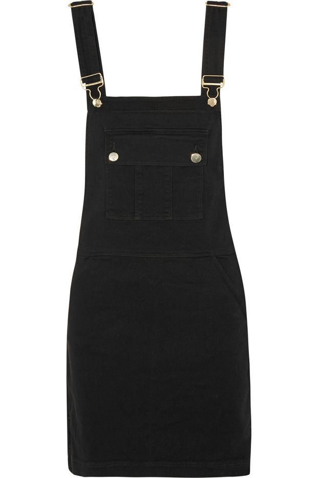 Frame Denim Le Apron Stretch-Denim Mini Dress