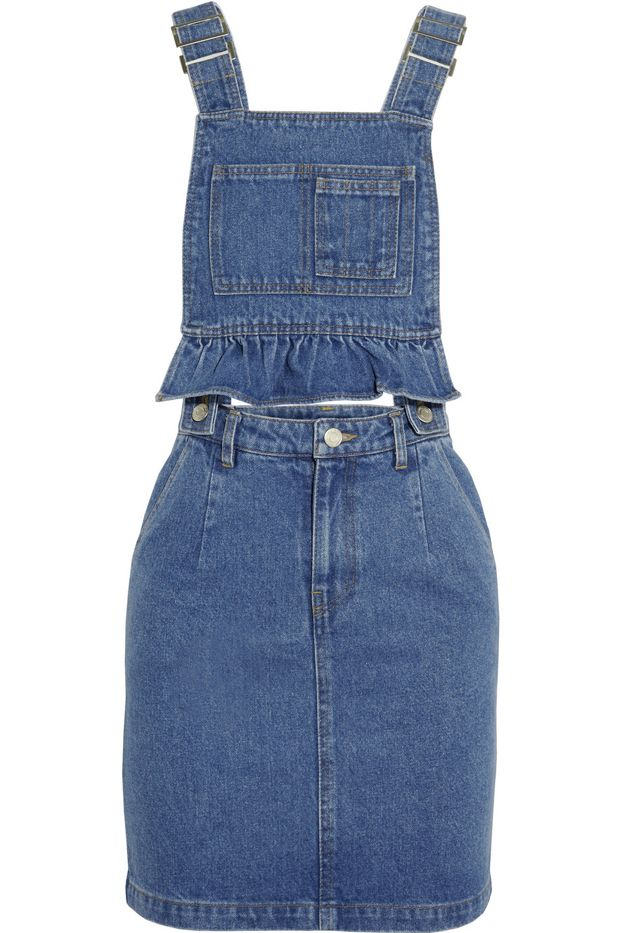 Steve J & Yoni P Denim Mini Dress