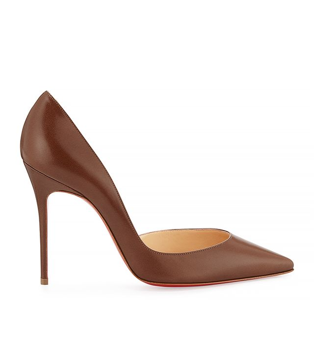 Christian Louboutin Half d'Orsay Leather Pumps