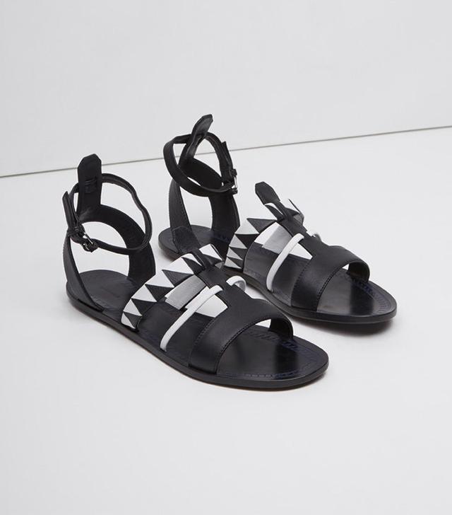 Proenza Schouler Geo Print Gladiator Sandals