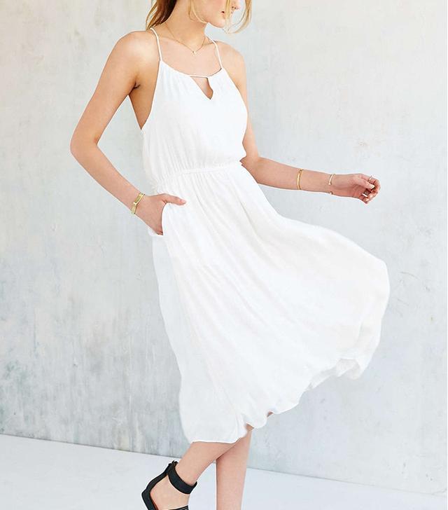 Alice X UO Bibi Satin Midi Dress
