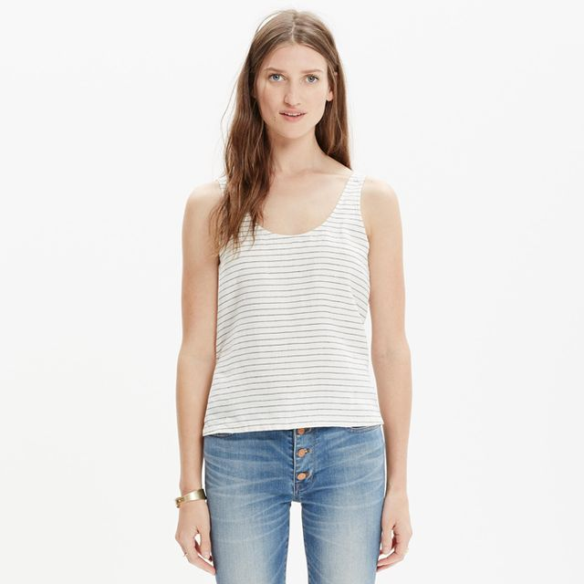 Madewell Linen Crop Top