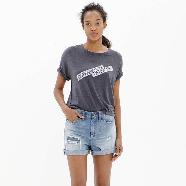 Madewell Denim Boyshorts Rip and Repair Edition