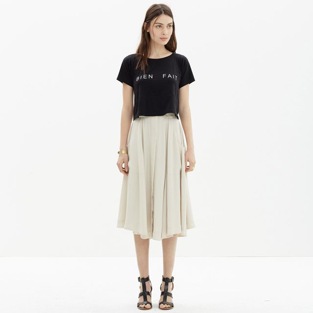 Madewell Button-Front Midi Skirt