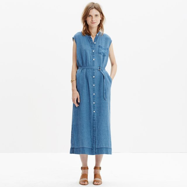 Madewell Linen Maxi Shirtdress