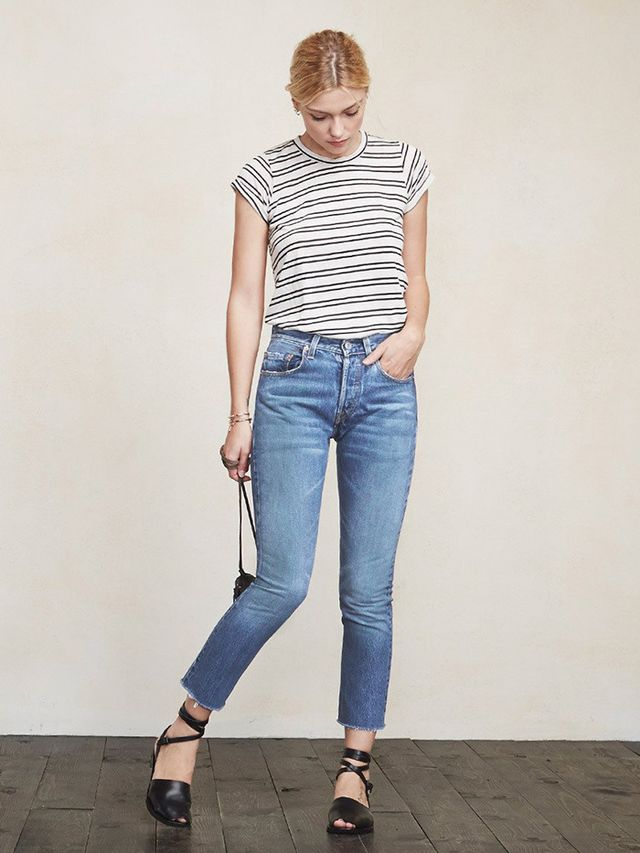 Reformation Cropped Slim Jeans
