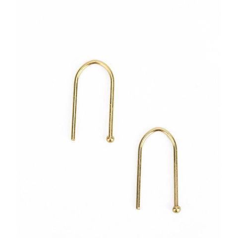 18K Gold & Sterling Silver Wire Earring
