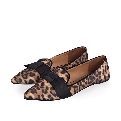 Demi Leopard Pointed Soft Box Trim Slipper