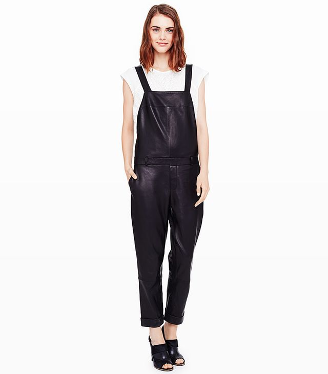 Club Monaco Dani Leather Overalls