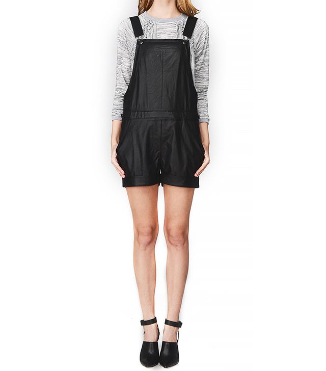Greylin Sarinana Faux Leather Overalls