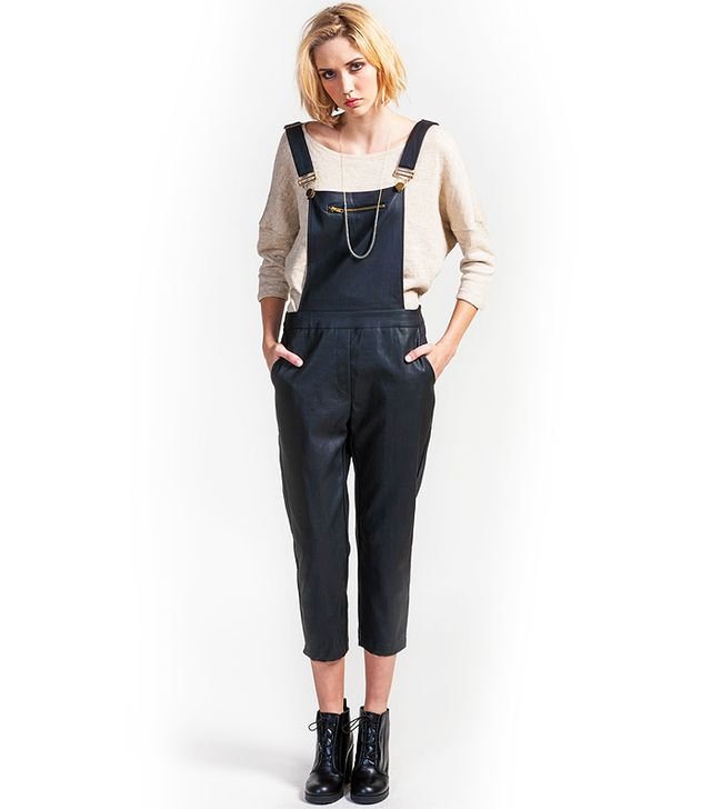 Koshka Faux Leather Overalls