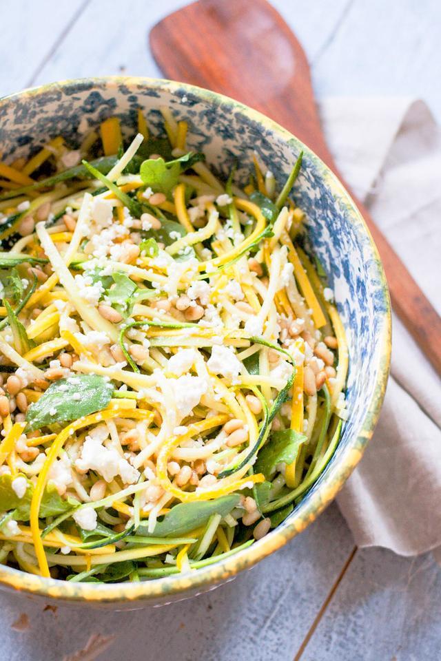 Gluten-Free Raw Zucchini and Feta Salad