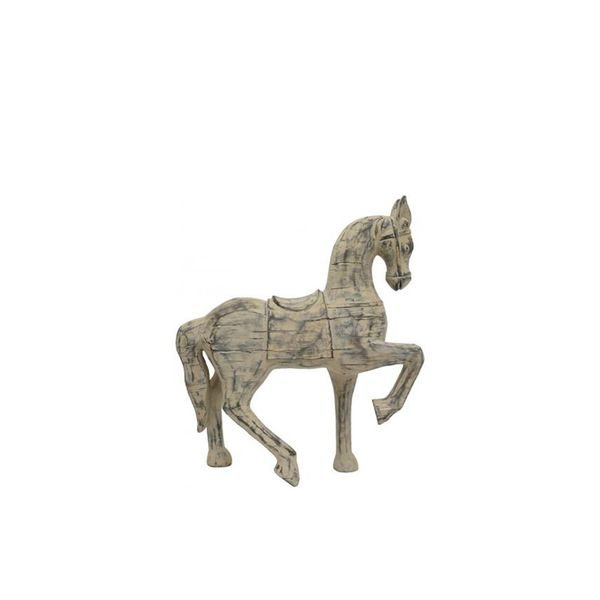 Home Decorators Collection Distressed Wood Horse Figurine