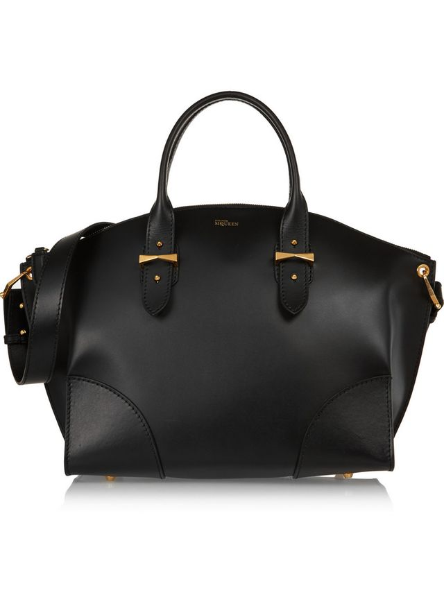 Alexander McQueen Legend Medium Leather Trapeze Tote