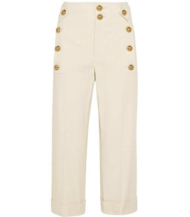 Gucci Cropped Cotton-Canvas Wide-Leg Pants