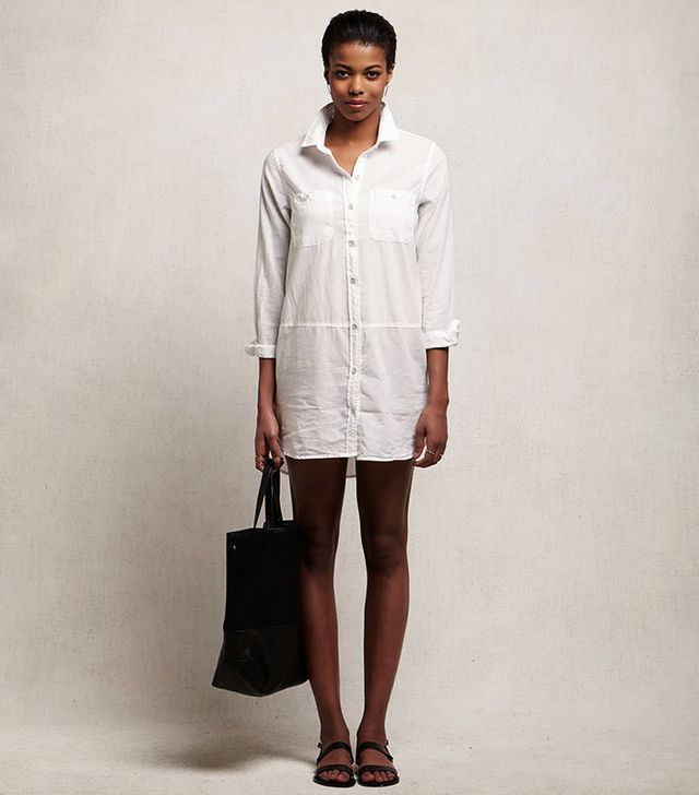 Cynjin Cotton Voile Shirtdress