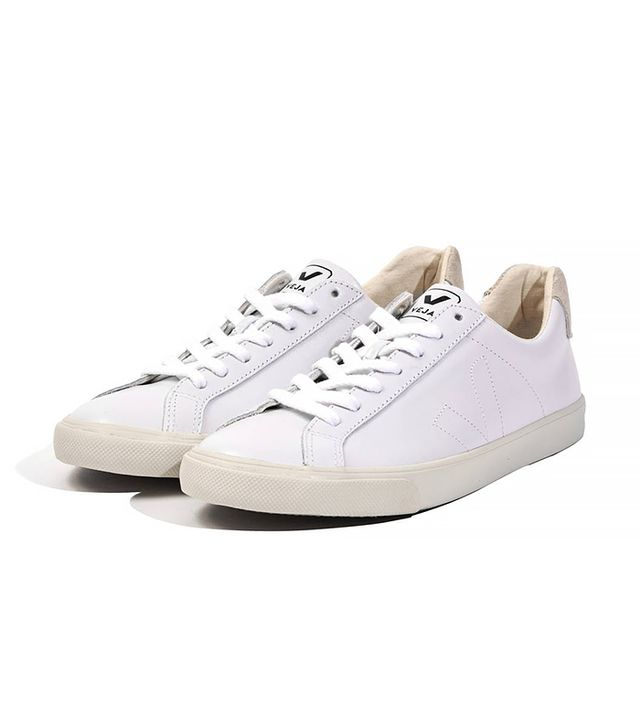 Veja White Leather Esplar Sneakers