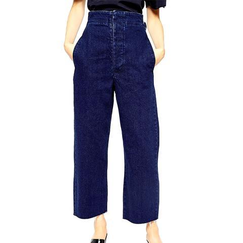High Waist Wide Leg Jeans in Indigo