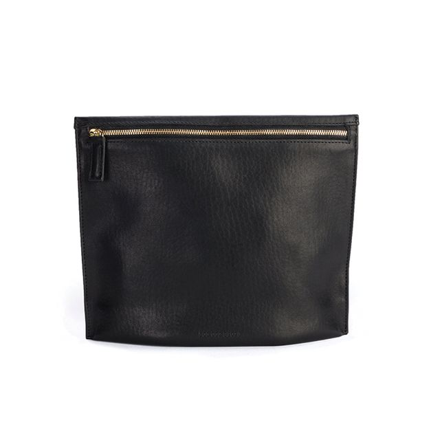 Shinola Large Zip Pouch in Black