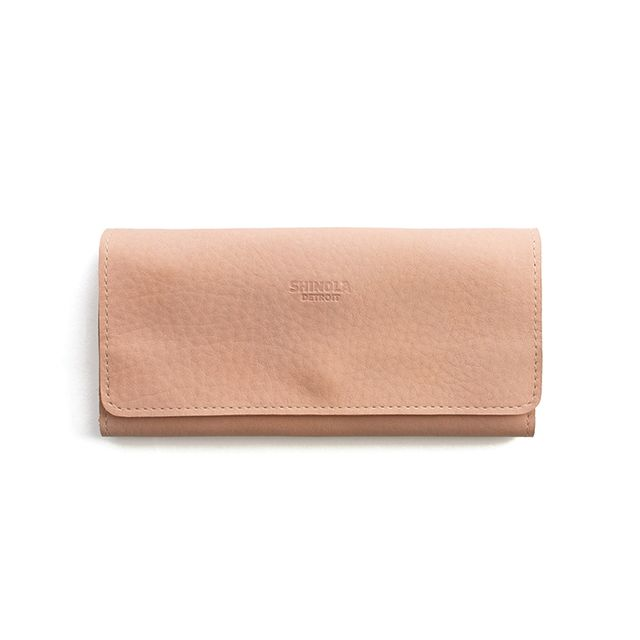 Shinola Large Wallet in Blush
