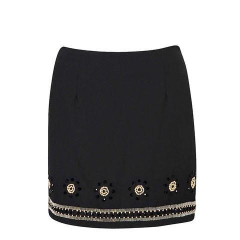 Laura Heavily Embellished Mini Skirt