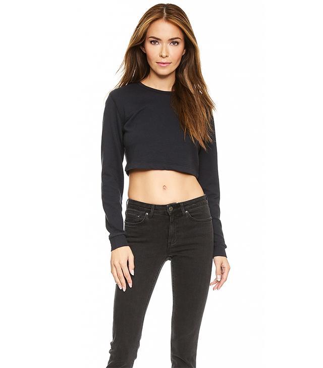 Joan Smalls x True Religion Fitted Crop Sweatshirt