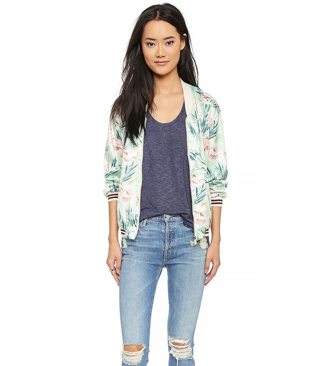 Maison Scotch Tropical Bomber Jacket