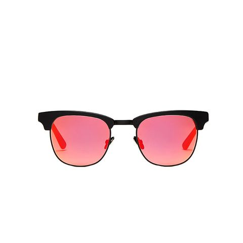 Vanguard 6 Sunglasses in Black Marble With Red Mirrored Lenses