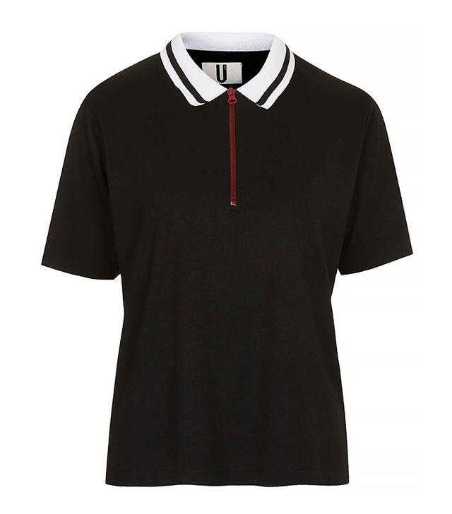 Topshop Contrast Collar Polo