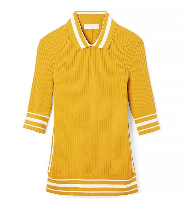 Tory Burch Ribbed Cotton Polo