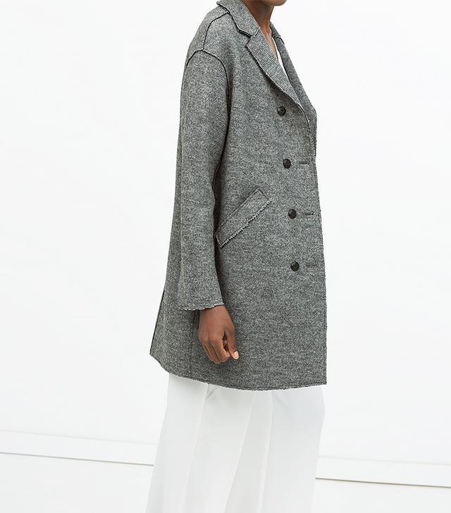 Zara Buttoned Wool Coat