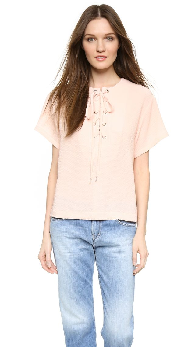 See by Chloe Lace Up Front Top