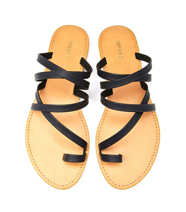 Forever 21 Strappy Toe-Loop Sandals
