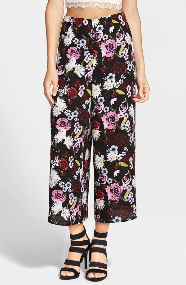 Leith High Rise Floral Culottes